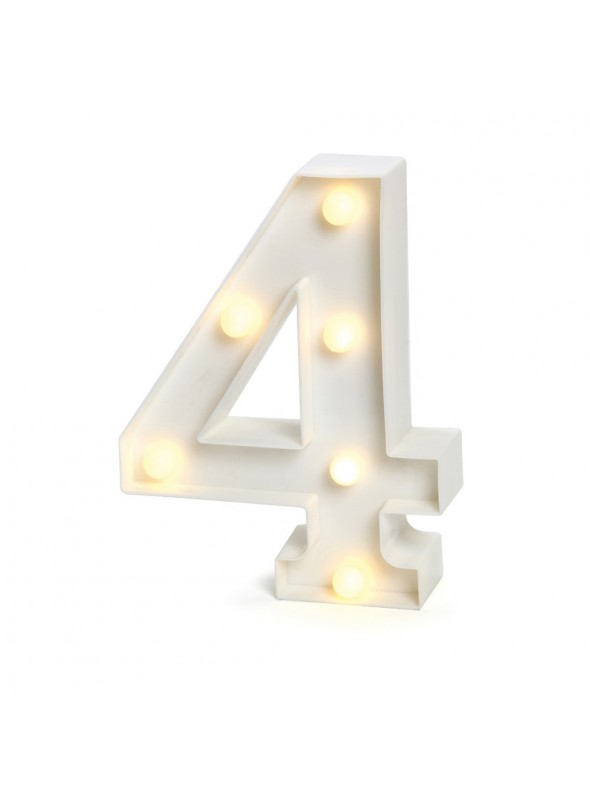 Luminária Led Número 4 – 1 unidade