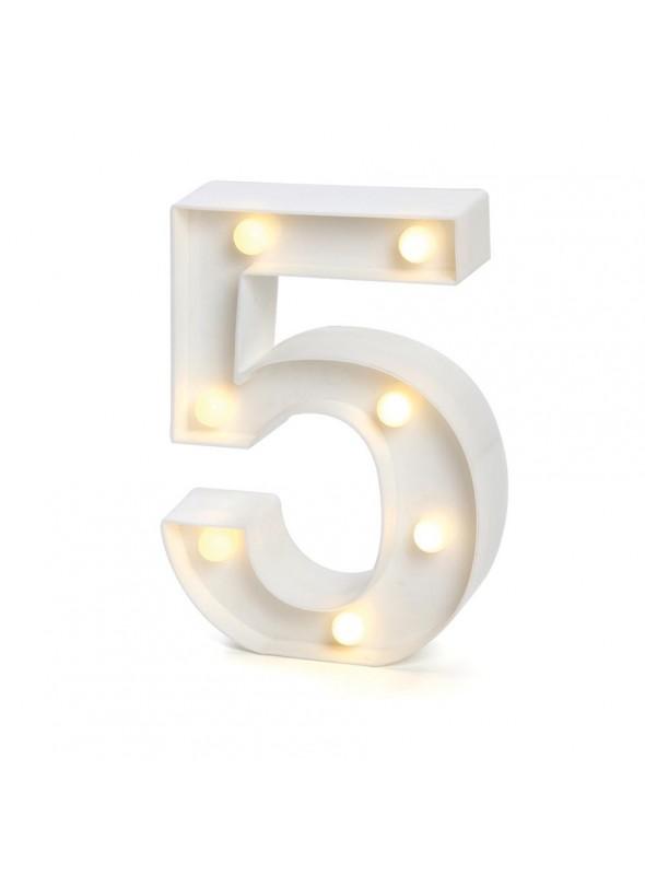 Luminária Led Número 5 – 1 unidade