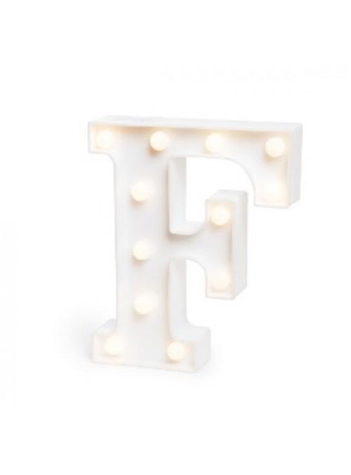 Luminária Led Letra F – 1 unidade