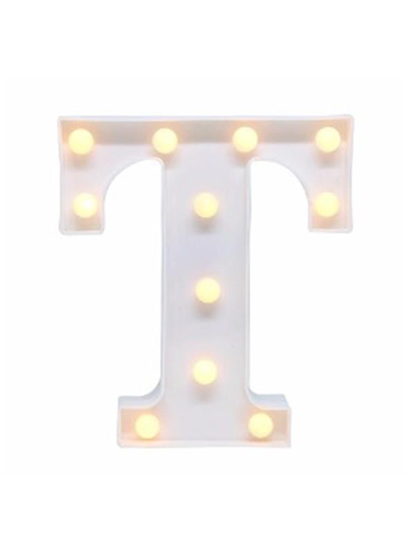 Luminária Led Letra T – 1 unidade
