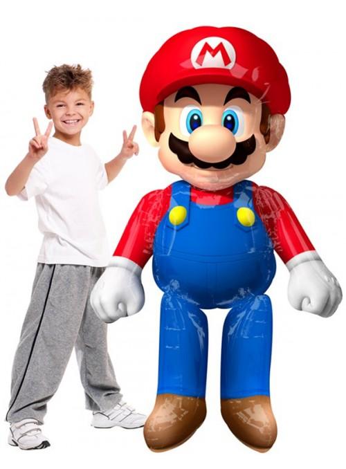 Balão Metalizado Airwalker Mario Gigante - 1 unidade