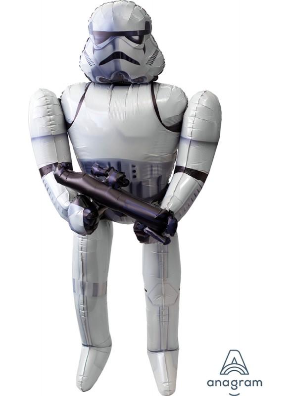 Balão Metalizado Airwalker Stormtrooper Star Wars - 1 unidade