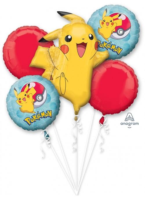 Kit Balões Metalizados Pokemon Anagram – Kit com 5 unidades
