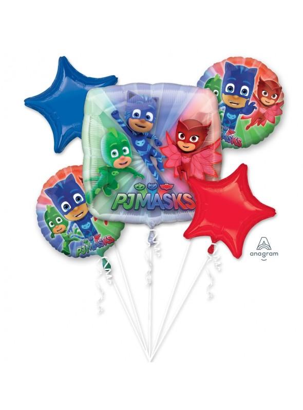 Kit Balões Metalizados PjMasks Anagram – Kit com 5 unidades