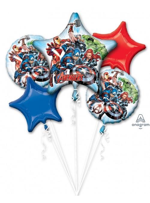 Kit Balões Metalizados Os Vingadores Anagram – Kit com 5 unidades