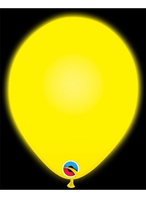 Balões de Led Q-Lite Amarelo – 5 unidades
