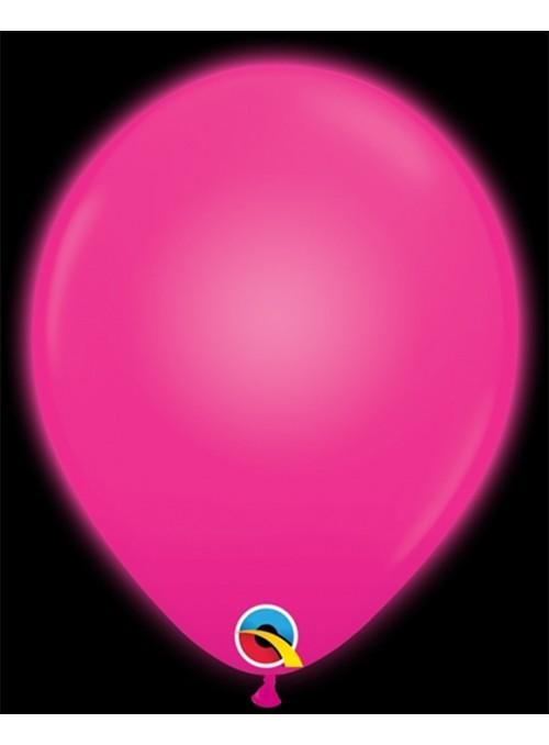 Balões de Led Q-Lite Rosa Forte – 5 unidades