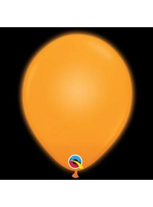 Balões de Led Q-Lite Laranja – 5 unidades