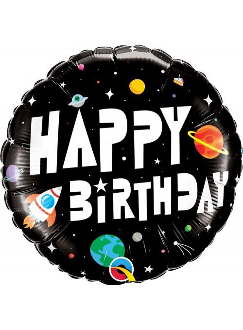 Balão Metalizado Aniversário Astronauta Qualatex – 1 unidade