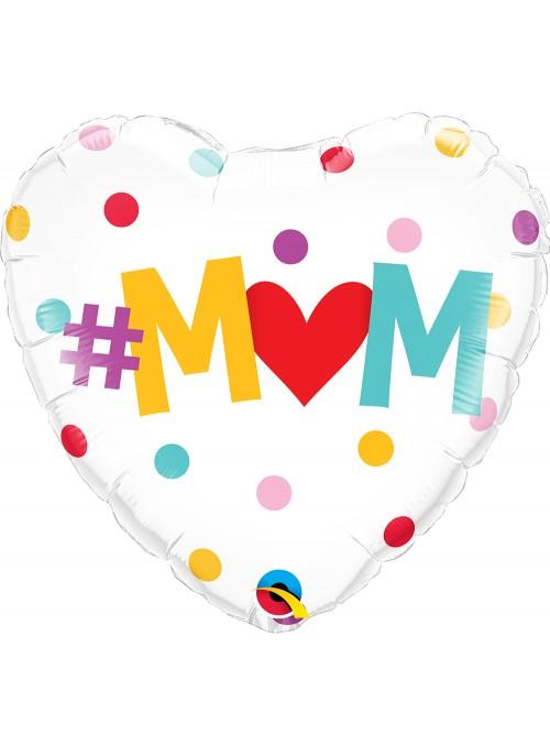 Balão Metalizado Mãe Coração Qualatex – 1 unidade