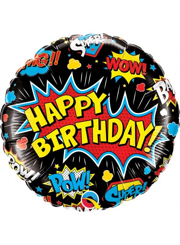 Balão Metalizado Aniversário Super Herói Qualatex – 1 unidade