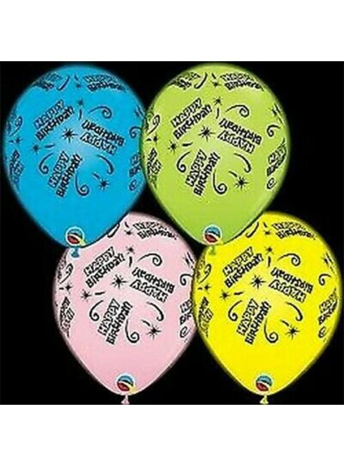 Balões de Led Q-Lite Aniversário Qualatex – 4 unidades