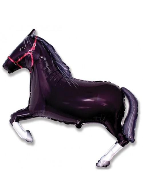 Balão Metalizado Cavalo Preto – 1 unidade