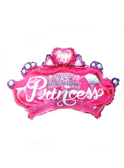 Balão Metalizado Aniversário Princesa – 1 unidade