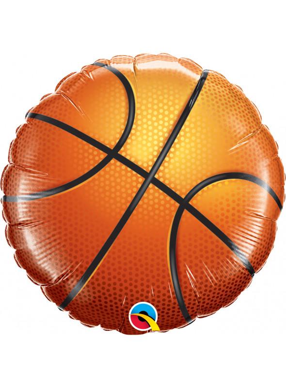 Balão Metalizado Bola de Basquete Qualatex – 1 unidade
