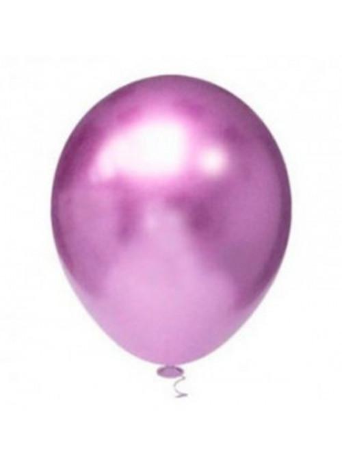 Balões de Látex Platino Cromado Roxo 5 Polegadas – 25 unidades