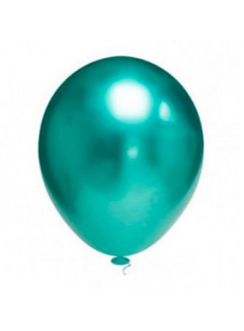 Balões de Látex Platino Cromado Verde 5 Polegadas – 25 unidades