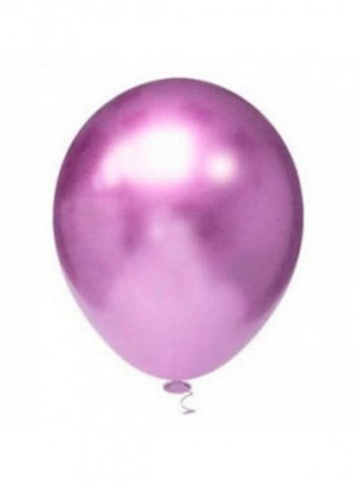 Balões de Látex Platino Cromado Roxo 10 Polegadas – 25 unidades