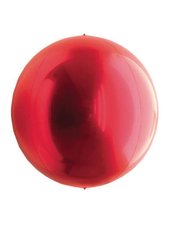 Balão Metalizado Esphera Globo Vermelho – 1 unidade