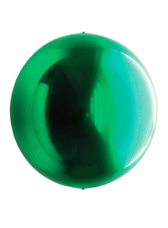 Balão Metalizado Esphera Globo Verde – 1 unidade