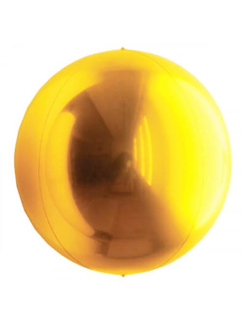 Balão Metalizado Esphera Globo Dourado – 1 unidade