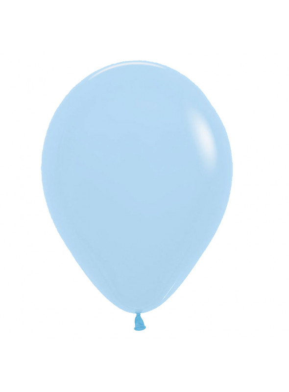 Balões de Látex Candy Colors Pastel Cristal Azul – 50 unidades