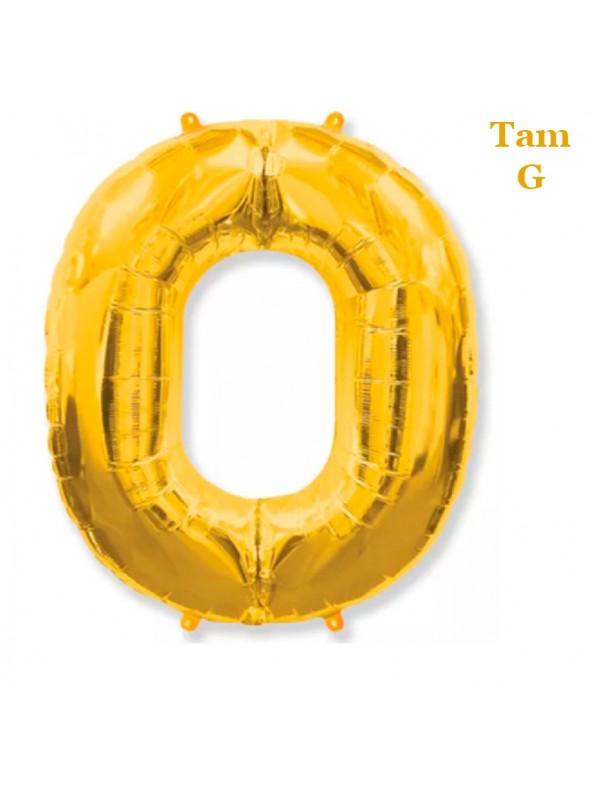 Balões Metalizados Dourado Números Tamanho G