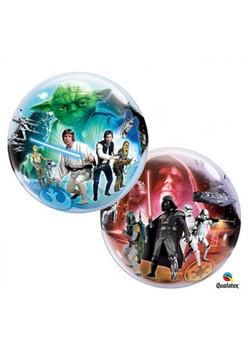 Balão Bubble Transparente Star Wars Qualatex – 1 unidade