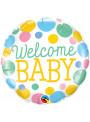 Balão Metalizado Redondo Welcome Baby Qualatex – 1 unidade