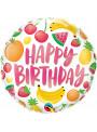 Balão Metalizado Feliz Aniversário Frutas – 1 unidade