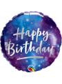 Balão Metalizado Feliz Aniversário Galáxia – 1 unidade