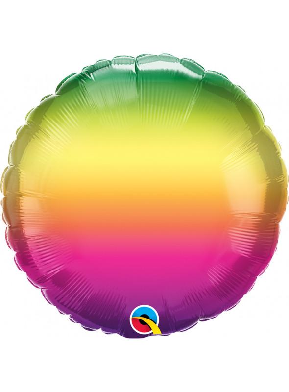Balão Metalizado Marmorizado Vibrante Ombré – 1 unidade