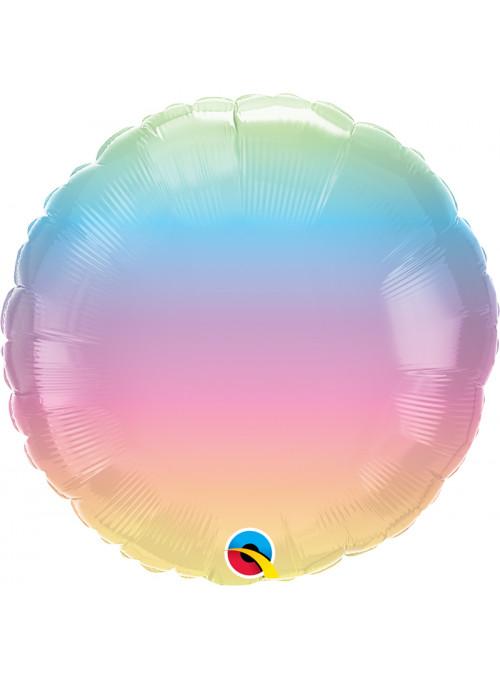 Balão Metalizado Marmorizado Pastel Ombré – 1 unidade