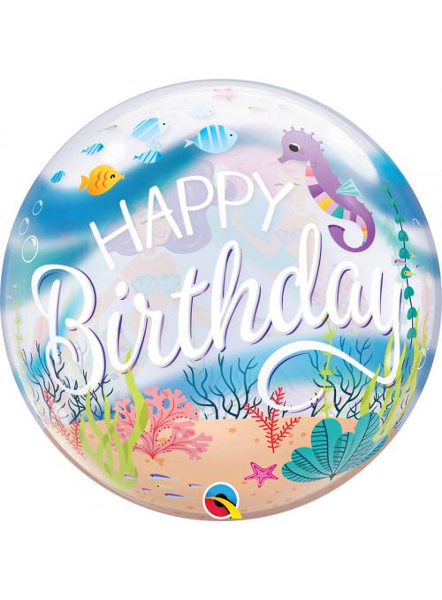 Balão Bubble Festa de Aniversário Sereia – 1 unidade