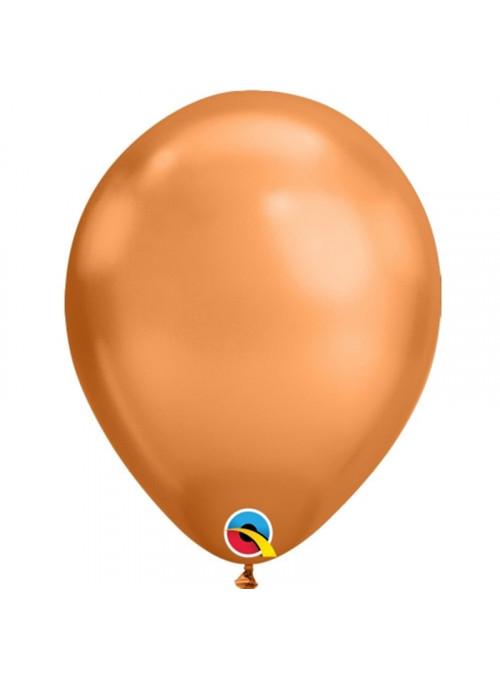 Balões de Látex Chrome Cobre – 5 unidades