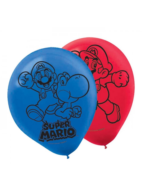 Balões de Látex Super Mario – 6 unidades