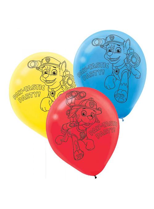 Balões de Látex Patrulha Canina – 6 unidades