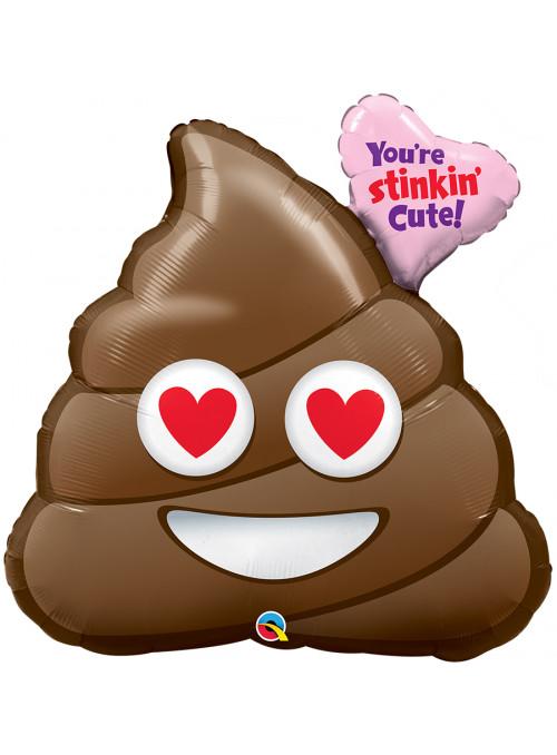 Balão Metalizado Emoji Você é Adorável Qualatex – 1 unidade