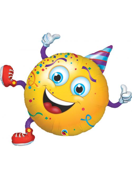Balão Metalizado Carnaval Carinha Festeira Qualatex – 1 unidade