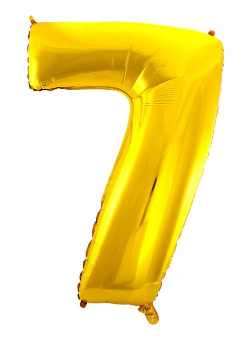 Balão Metalizado Número 7 Dourado 28 Polegadas