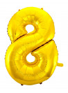 Balão Metalizado Número 8 Dourado 28 Polegadas
