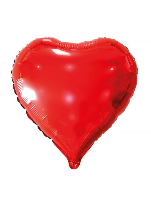 Balão Metalizado Coração Vermelho 18 Polegadas