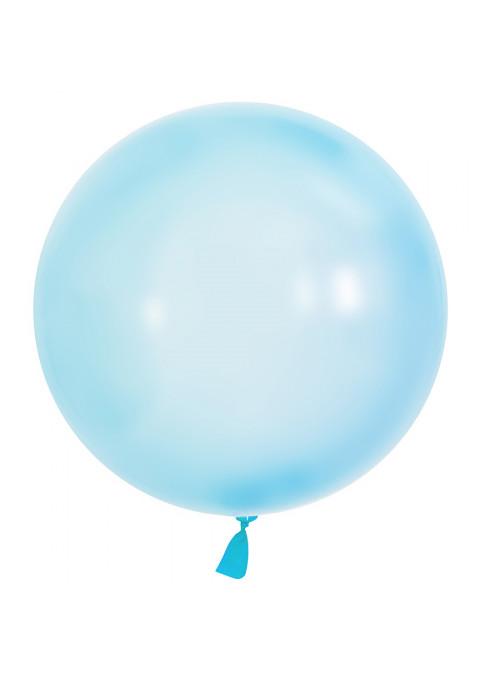 Balão Bubble Transparente Azul 24 polegadas