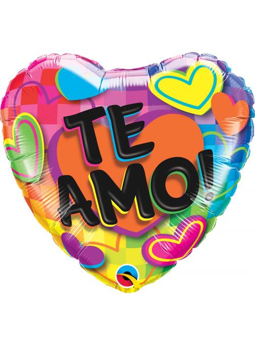 Balão Metalizado Coração Te Amo!