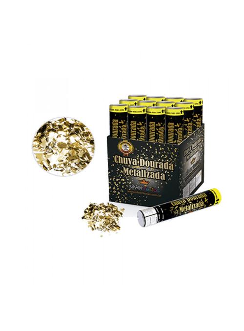 Lança Confete Metalizado Dourado