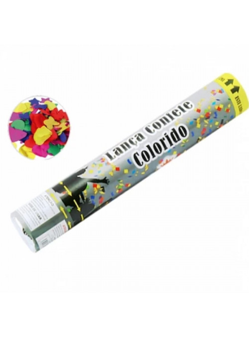 Lança Confetes Papel Colorido - 1 unidade