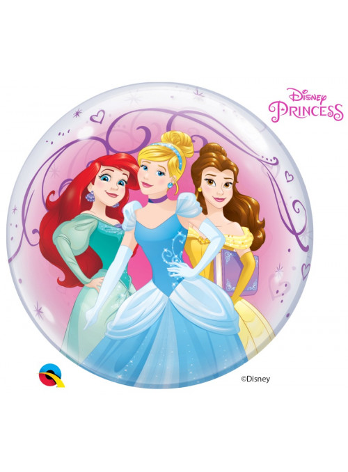 Balão Bubble Princesas Da Disney Qualatex 22 Polegadas 56cm