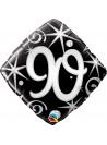 Balão Metalizado Aniversário 90 Anos Faíscas Qualatex 46cm