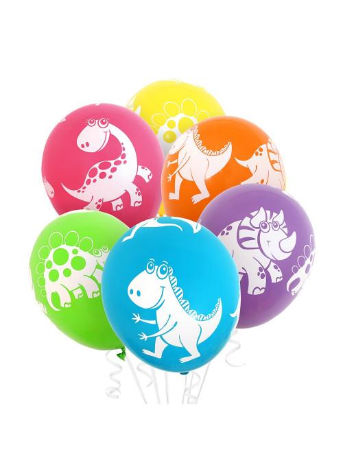 Bexiga Balão Dinossauros 11 Polegadas 28cm Qualatex 6 unidades