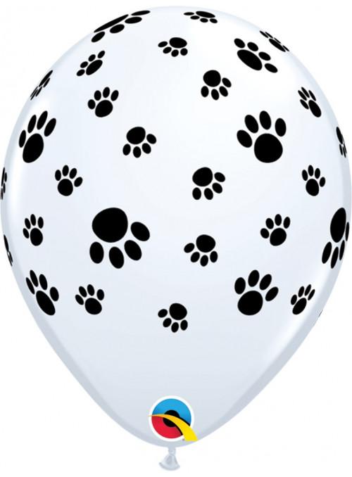 Bexiga Balão Patas Cachorro 11 Polegadas 28cm Qualatex 6 unidades